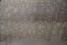 Letters voor in de etalage