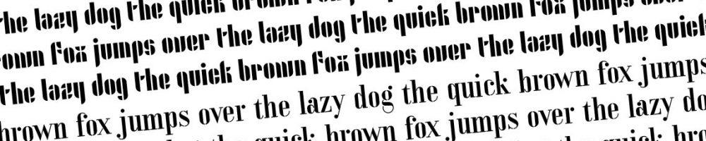 Sjablonen maken met stencil lettertypes