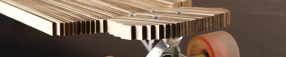 Stage bij Laserbeest - een longboard van multiplex!