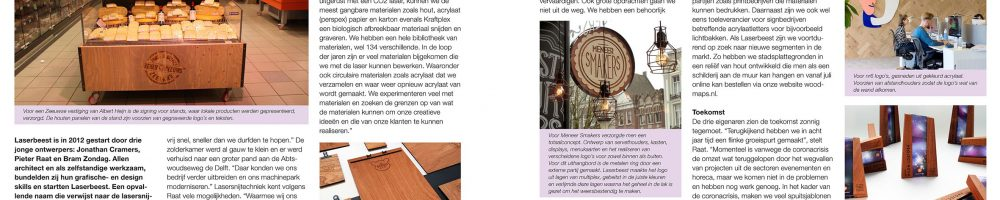 Artikel over Laserbeest in vakblad